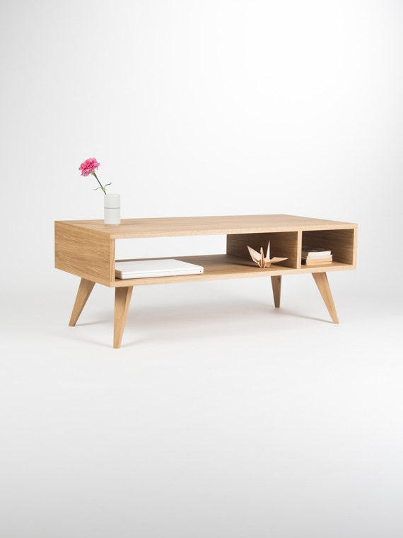 Ready To Ship Modern Coffee Table Media Console Etsy