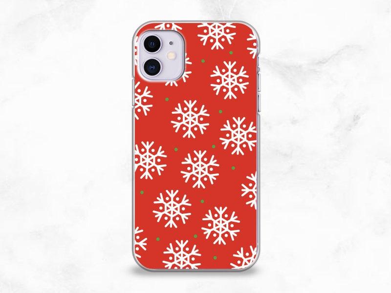 Snow Flakes XMAS phone case for iPhone 11 pro LG V50 Google