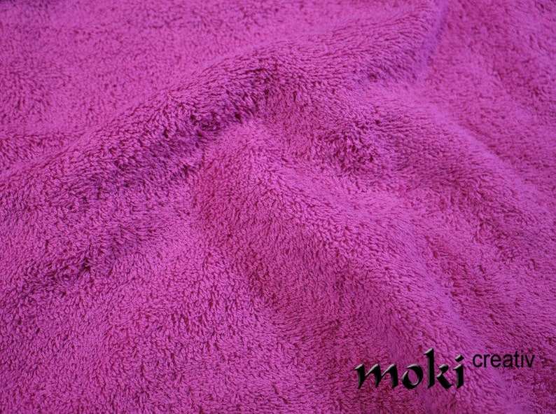 Terry cloth Fabric Pink Solid Terry Uni (0 5 m)