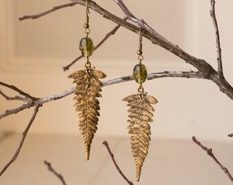 Earthy Fern Earrings
