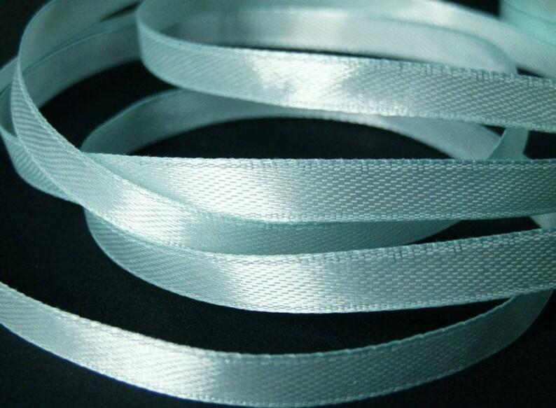 10 m 6mm light blue satin ribbon image 0