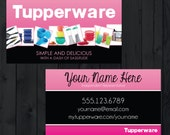 tupperware business cards printed - Tupperware Business Cards