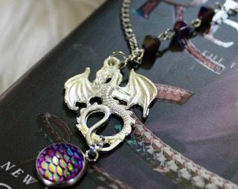 Purple Dragon Scale Necklace