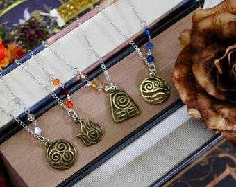 Elemental Crystal Necklaces