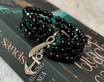 On These Black Sands Infinity Wrap Bracelet