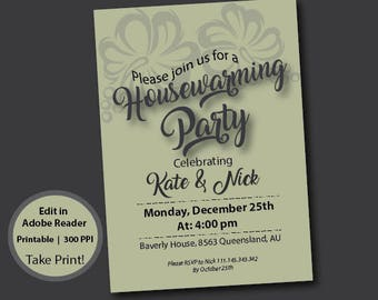 Housewarming Invitation Party Invites Printable New House
