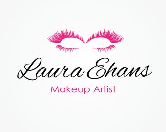 Logo Design Makeup Artist Vector Eyelashes Beauty Make Up