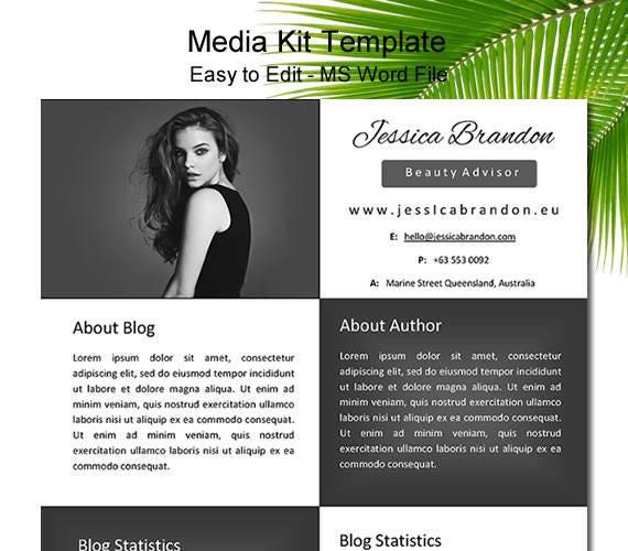 Media Kit Template Blogger Media Kit One Page Media Kit Press Kit Template Media Kit Black Media Kit Word Media Kit Media Kit Word