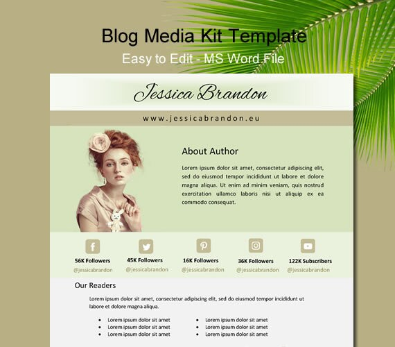 Media kit template blogger media kit one page media kit etsy image 0 maxwellsz