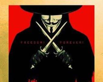 """V for Vendetta - Gold - 24x36"""" Poster"""