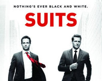 "Suits - ""Nothing's ever black and white"" - 24x36"" Poster"