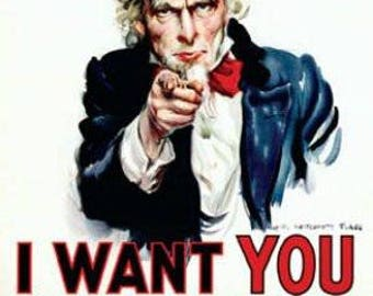 "Uncle Sam - I Want You - 24x36"" Poster"