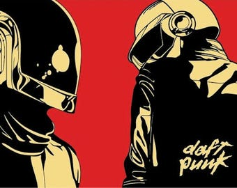 "Daft Punk - Red - 24x36"" Poster"