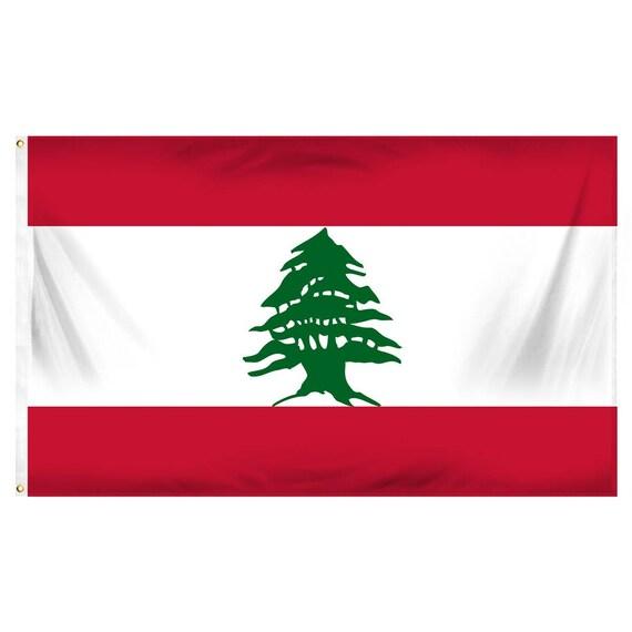 LEBANESE FLAG 3 Ft x 5 Ft