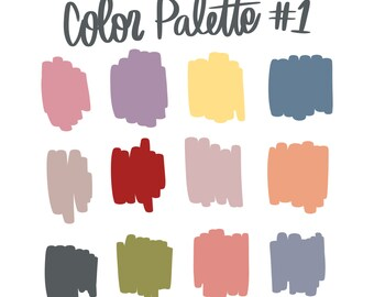 Color Palette #1 | Natalie Meagan Color Palette | Procreate Color Palette