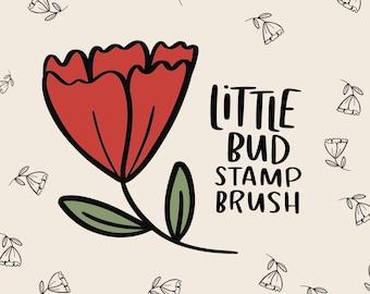 Procreate Flower Stamp Brush | Natalie Meagan Stamp Brush | Doodle Brush | Procreate Little Bud Stamp Brush