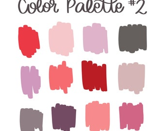 Color Palette #2 | Natalie Meagan Color Palette | Procreate Color Palette