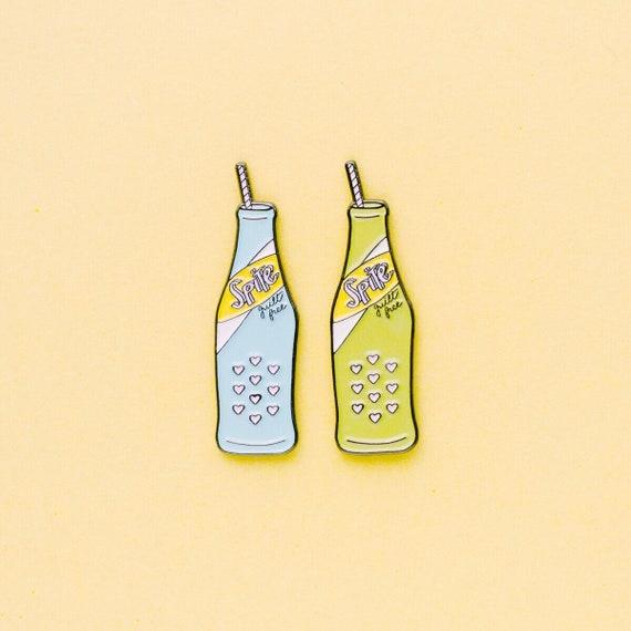 Fresh Taste of Spite | Spite Enamel Pin | Fueled by Spite | Cute Soda Bottle | Enamel Pin | The Crybaby Club