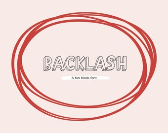 Backlash Font | Natalie Meagan Font | The Crybaby Club Procreate Font