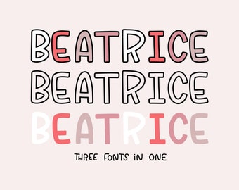Beatrice Font | Natalie Meagan Font | The Crybaby Club Procreate Font