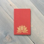Moleskine Cahier notebook, Pocket journal, Small notebook, Yoga journal, Dream journal, Gold lotus journal, Yoga gift, Coworker gift