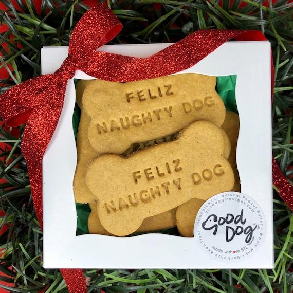 Feliz Naughty Dog Treat Box Grain Free Peanut Butter Dog Treats