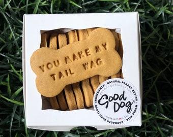 You Make My Tail Wag - Grain Free Peanut Butter Dog Treats
