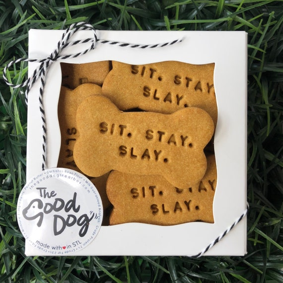 Sit. Stay. Slay. Grain Free Peanut Butter Dog Treats
