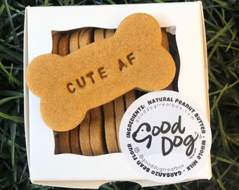 Cute AF Grain Free Peanut Butter Dog Treats
