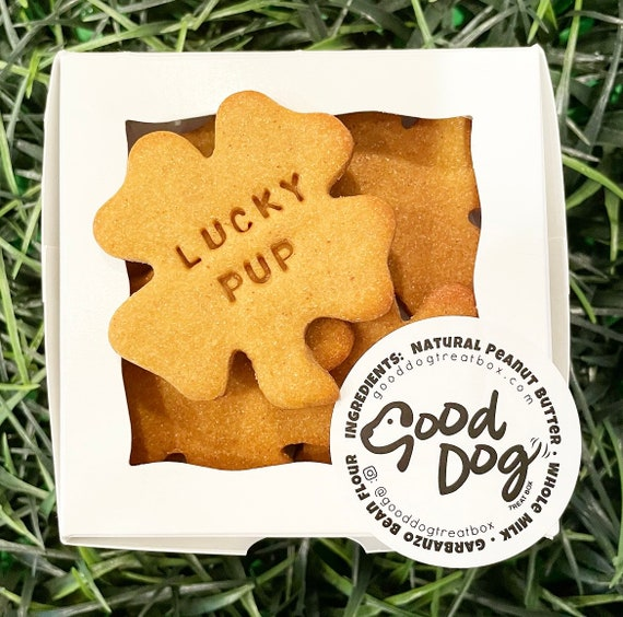 Lucky Pup Grain Free Peanut Butter Shamrock Treats
