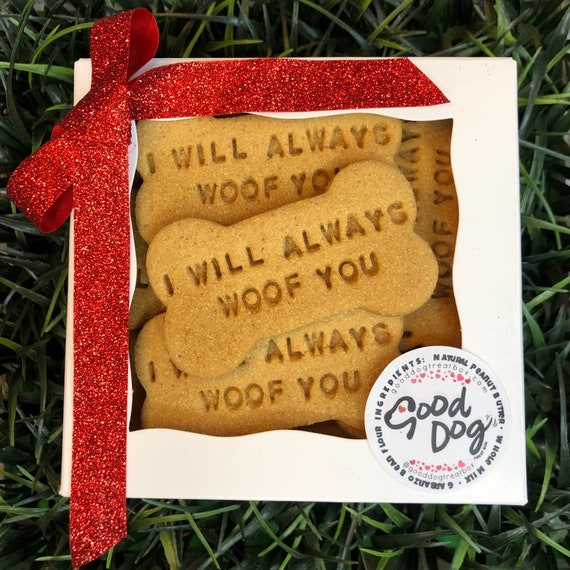I Will Always Woof You - Grain Free Peanut Butter Dog Treat Box