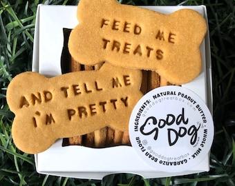 Feed Me Treats And Tell Me I'm Pretty Grain Free Peanut Butter Dog Treats