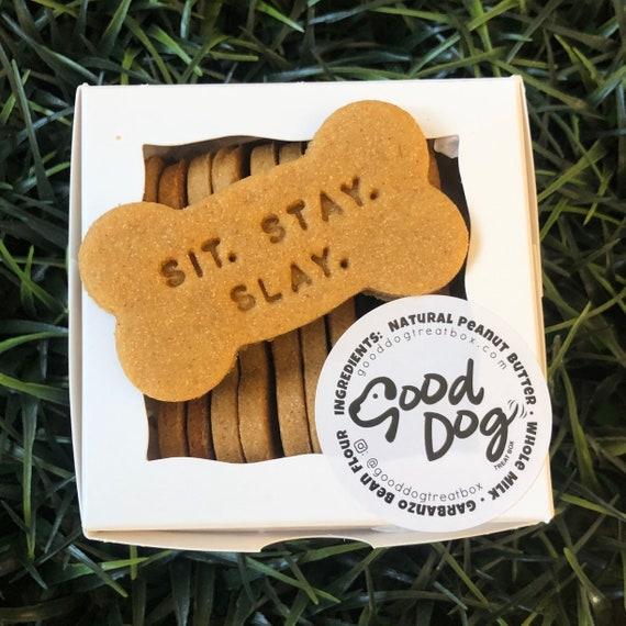 Sit. Stay. Slay. Grain Free Peanut Butter Dog Treats