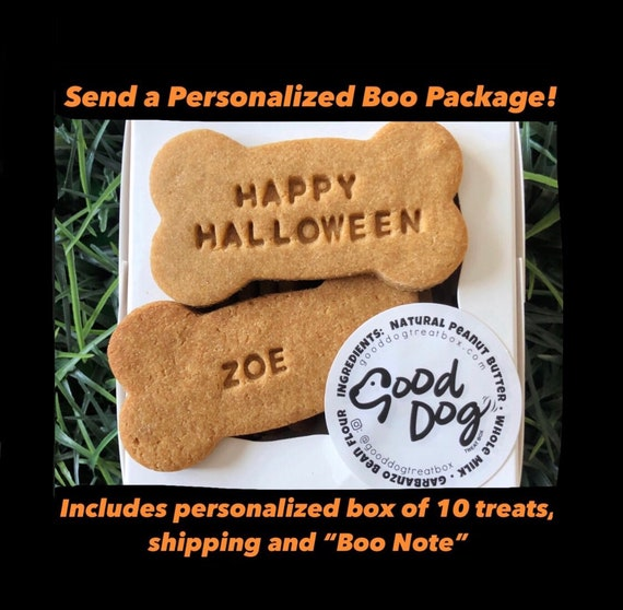 You've been BOOED - Personalized Halloween Dog Treat Boo Package