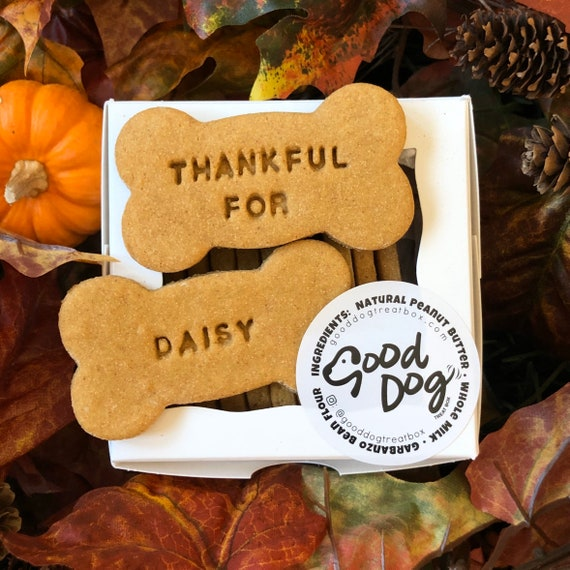 Thankful For (Personalized) - Grain Free Peanut Butter Dog Treats