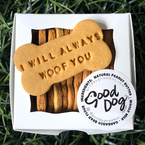 I Will Always Woof You Grain Free Peanut Butter Dog Treats
