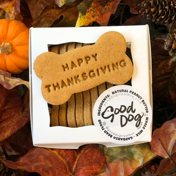 Happy Thanksgiving - Grain Free Peanut Butter Dog Treats