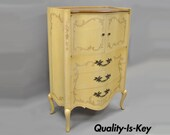 French Provincial Louis XV Style Walnut Tall Chest Dresser by John Widdicomb