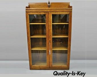 Glass Door Bookcase Etsy