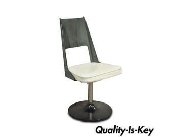 Exceptionnel Vintage Mid Century Modern Smoked Curved Lucite Swivel Base Desk Side Chair