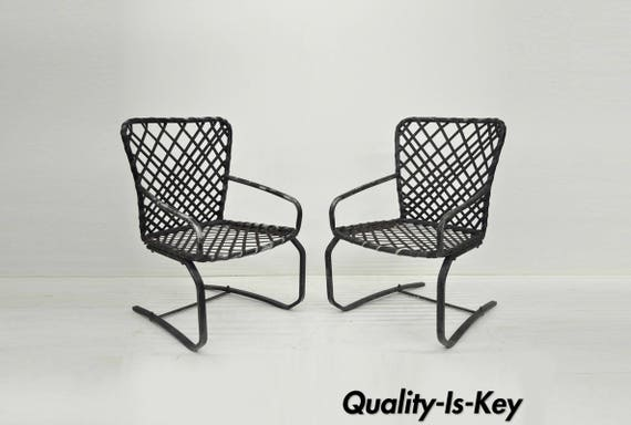 Cool Pair Brown Jordan Tamiami Aluminum Vinyl Strap Patio Pool Flex Spring Chairs Vintage Ibusinesslaw Wood Chair Design Ideas Ibusinesslaworg