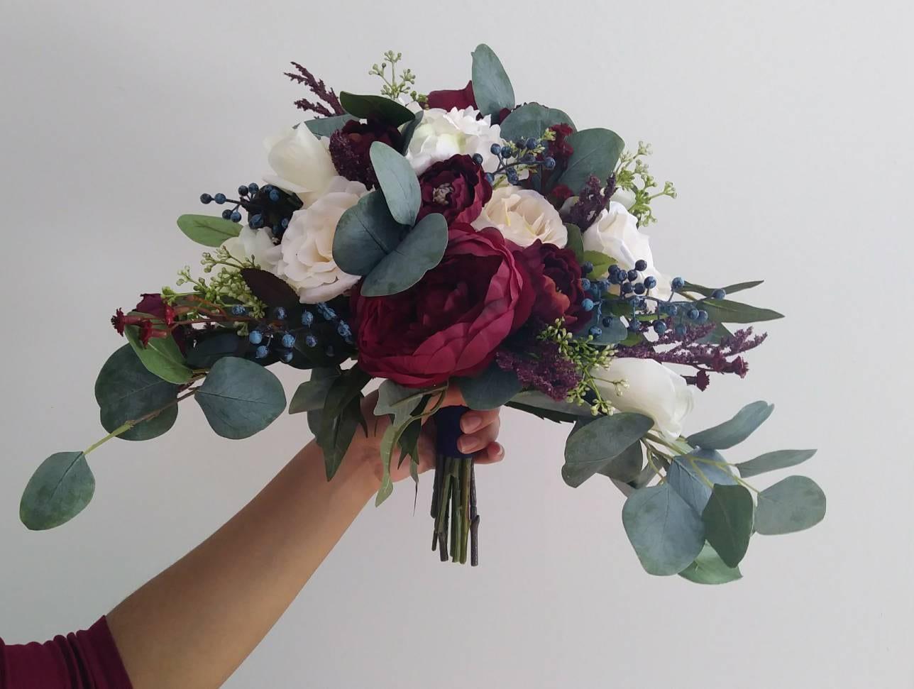 Bridal Bouquets Wedding Bouquet Wedding Flowers Artificial Etsy