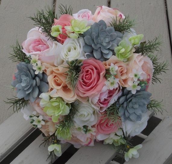 Wedding Flowers Rustic Bouquet Wedding Bouquet Bridal | Etsy