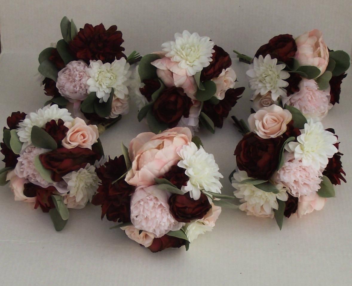 Bridesmaids Bouquets Wedding Bouquet Wedding Flowers Etsy