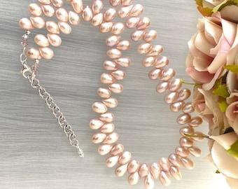 Zigzag Pearl Choker - Dancing Pearls - Nugget Pearl