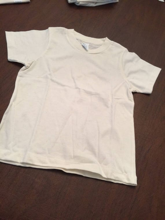 858720400 Ivory Organic Cotton Baby Toddler Clothes Plain T-shirt Size 4