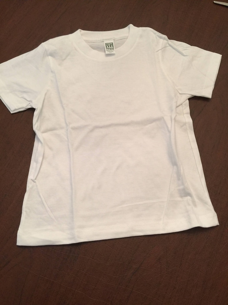 45855a17ca2 White Organic Cotton Baby Toddler Clothes Plain T-shirt Size 6