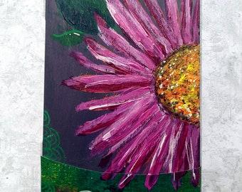 Bloom - Original Hand Painted Wooden Oracle Card