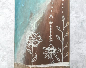 Patience - Original Hand Painted Wooden Oracle Card