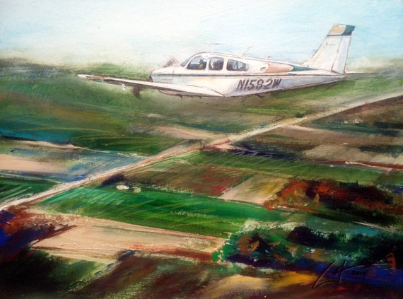 1972 Beechcraft Bonanza G33 by artist, William III